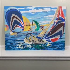 Sailing Regatta Paint-By-Number Wall Art
